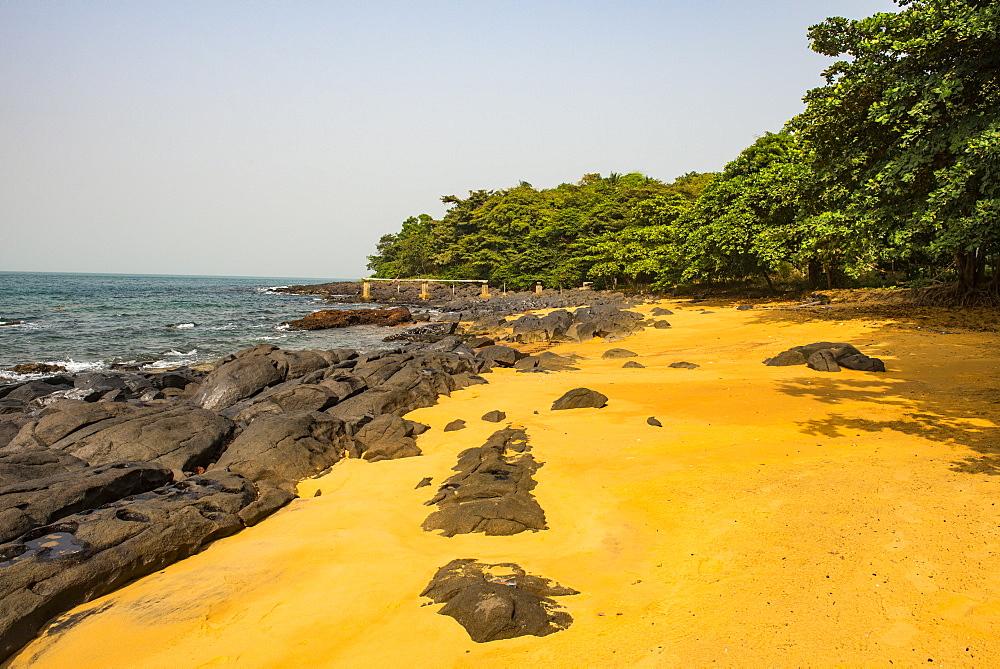 Pretty beach on Banana islands, Sierra Leone