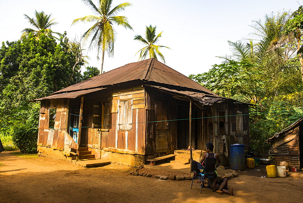 Old Creole house, Banana islands, Sierra Leone, West Africa, Africa