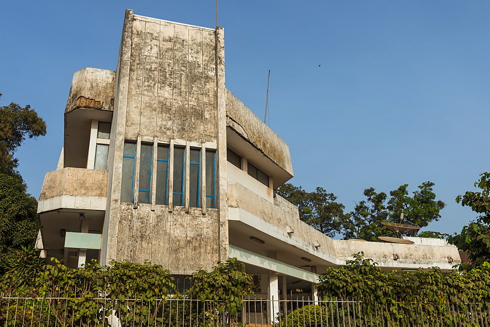 Communist building in Bissau, Guinea Bissau, West Africa, Africa