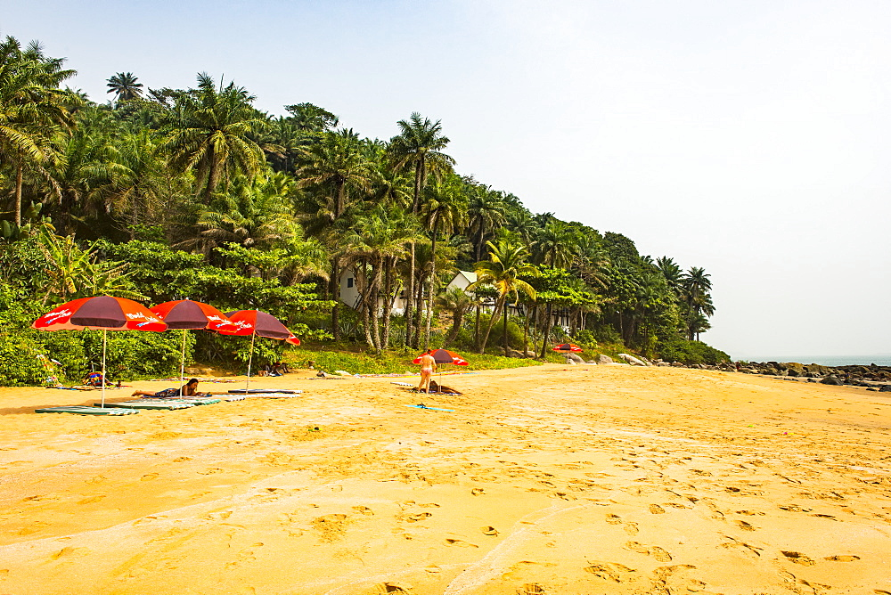 Beautiful remote beach on Los islands, Republic of Guinea, Guinea Conakry