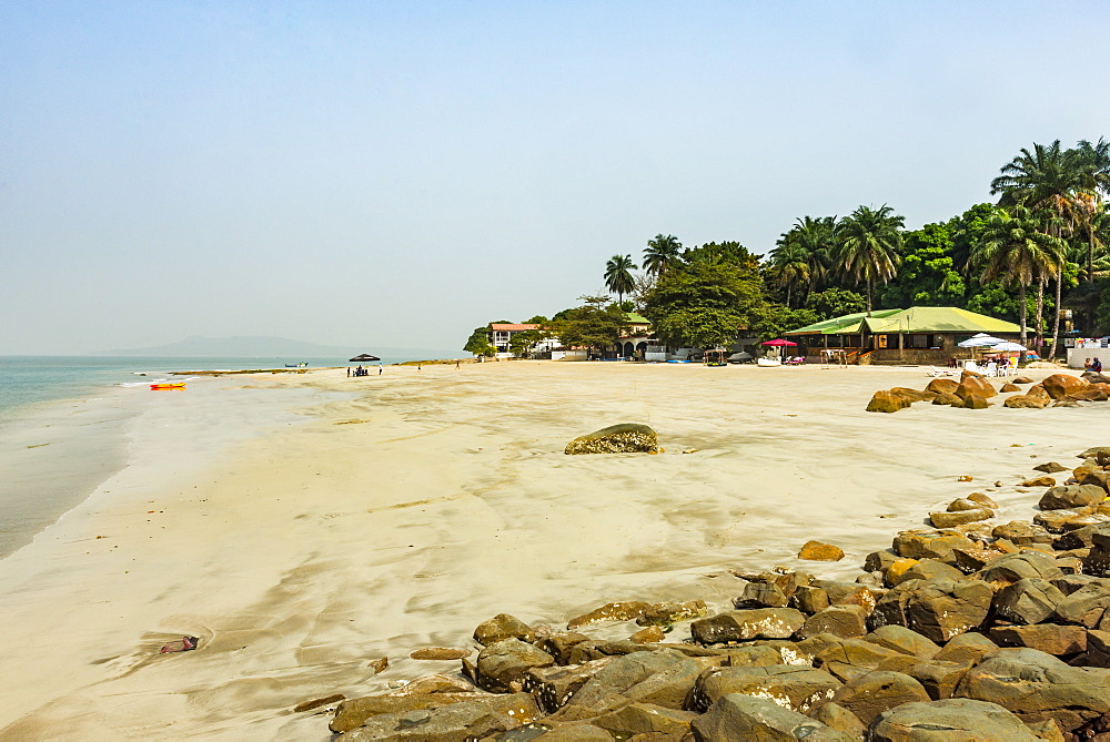 Beautiful remote beach on Los islands, Republic of Guinea, West Africa, Africa