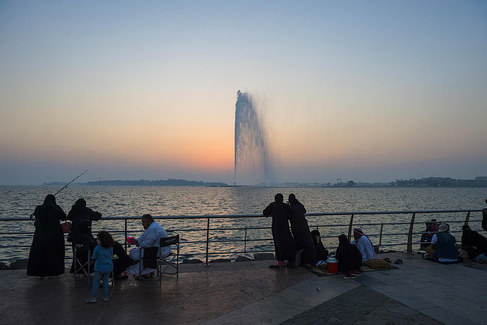 The largest fountain in the world, Corniche, Jeddah, Saudi Arabia, Middle East