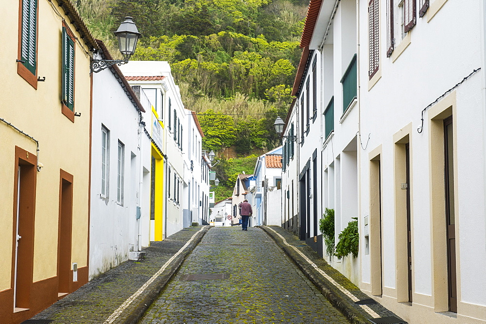 Old town of Lajes, Island of Pico, Azores, Portugal, Atlantic, Europe