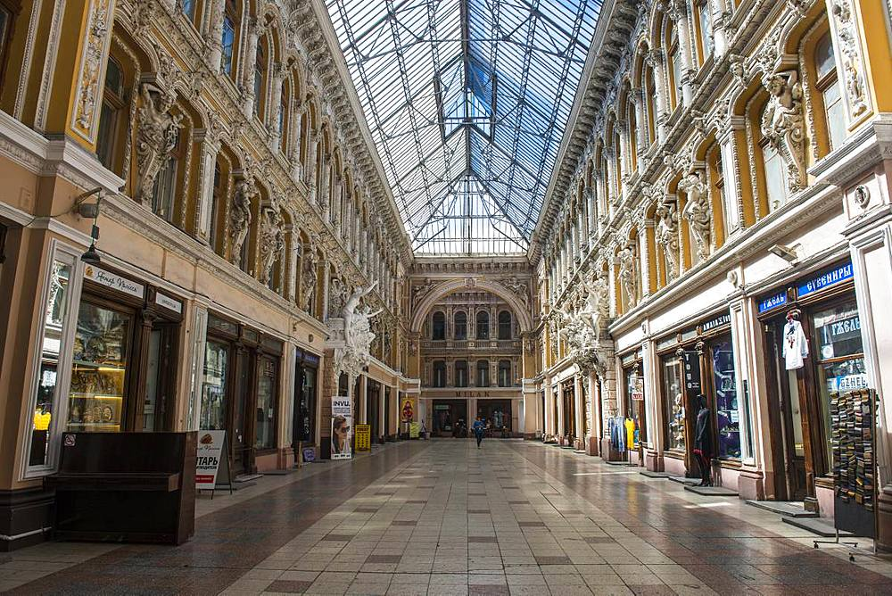 Beautiful historic shopping passage, Odessa, Black sea, Ukraine