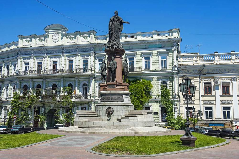 Monument to Catherine II, Odessa, Black Sea, Ukraine, Europe