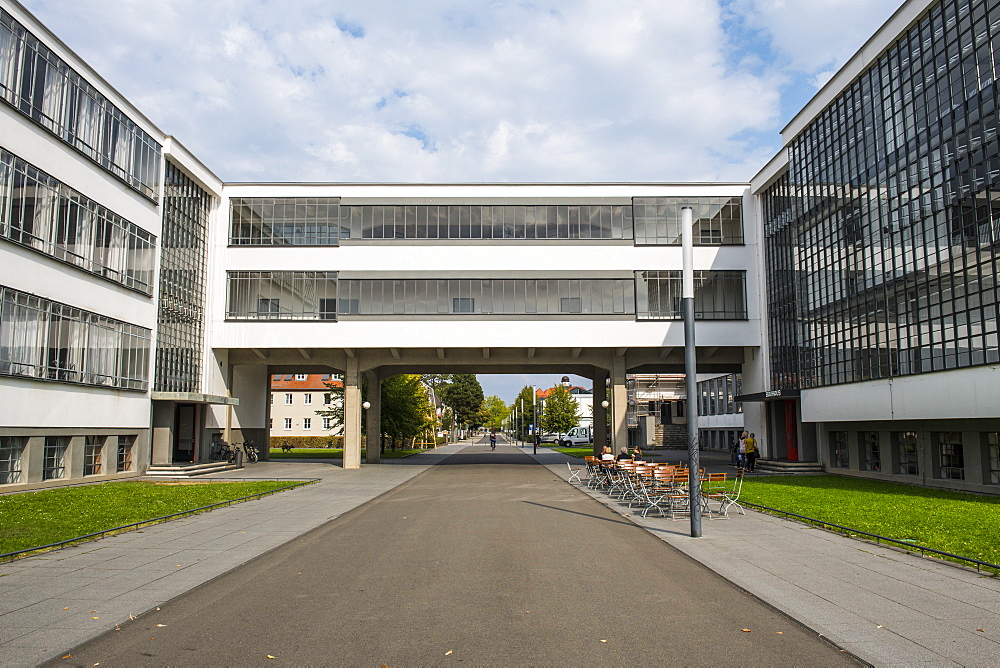 The Bauhaus College, UNESCO World Heritage Site, Dessau, Saxony-Anhalt, Germany, Europe