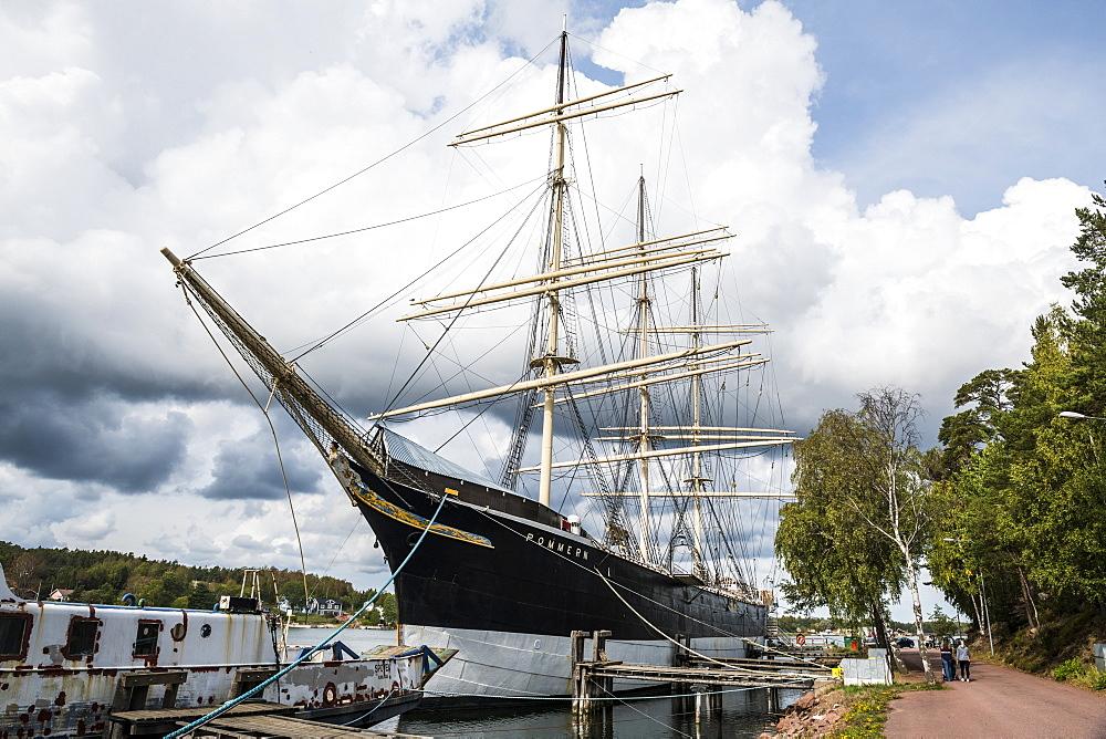 Pommern historic boat, Mariehamn, Aland, Finland, Europe