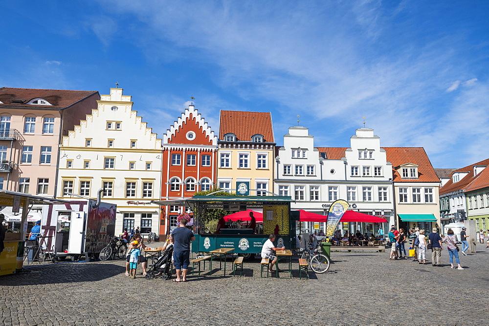 Central market square, Greifswald, Mecklenburg-Vorpommern