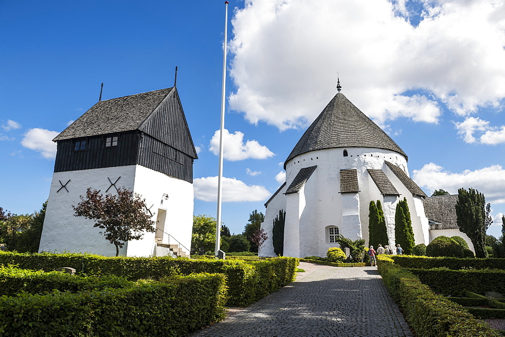 Osterlars Round Church, Bornholm, Denmark, Scandinavia, Europe