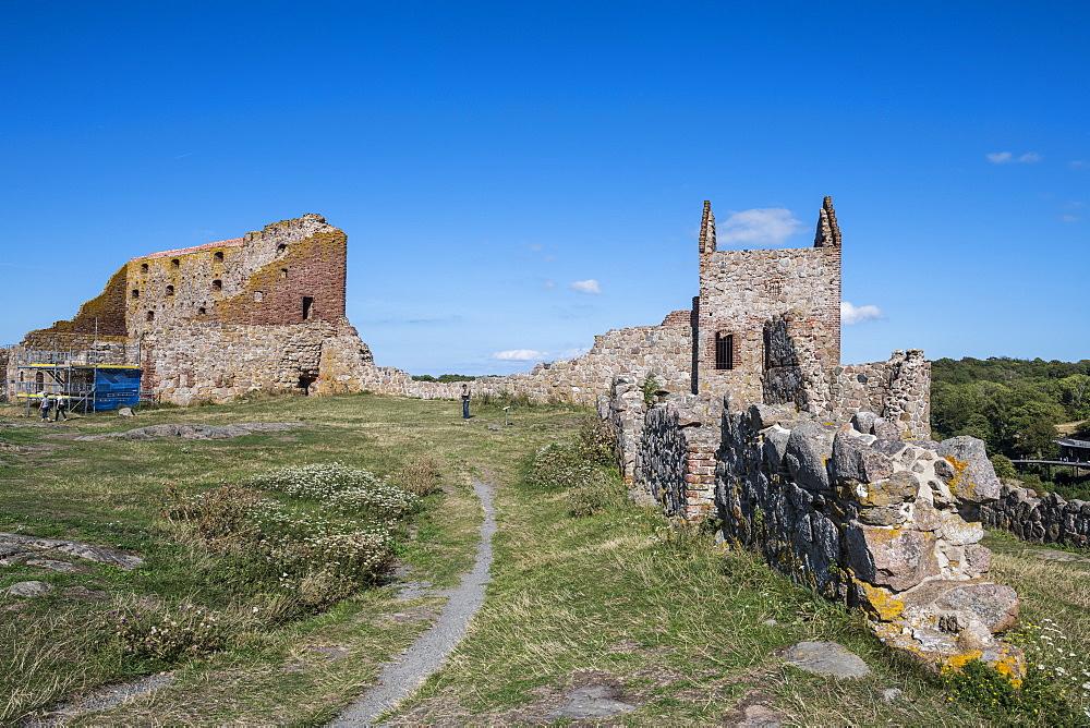 Hammershus Castle ruins, Bornholm, Denmark