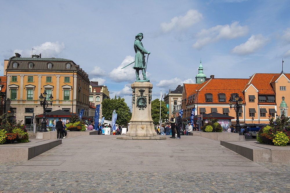 Town square of the Unesco world heritage sight the Naval base of Karlskrona, Sweden