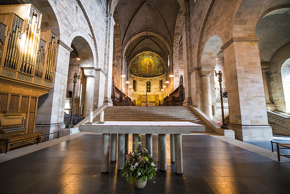 Interior of the Lund Cathedral, Lund, Sweden, Scandinavia, Europe