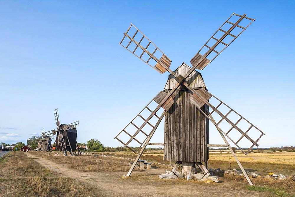 Unesco world heritage sight the windmills of Oland, Sweden