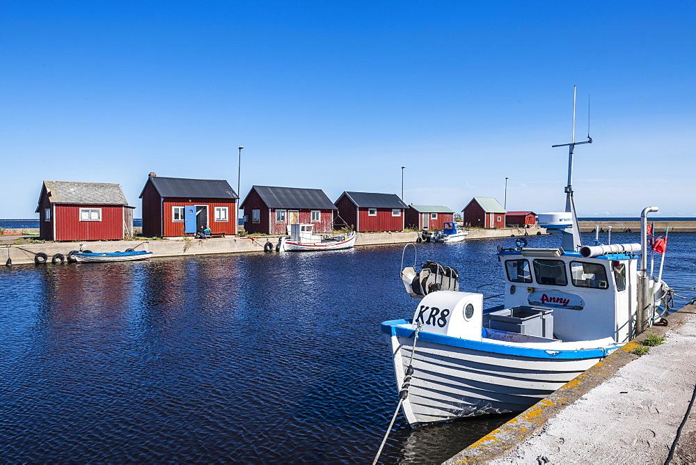 Grasgard harbour, Oland, Sweden, Scandinavia, Europe