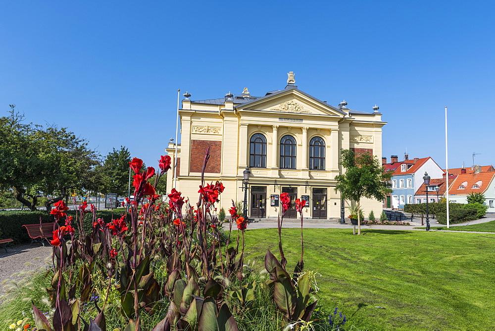 Theatre in the historic town of Ystad, Sweden, Scandinavia, Europe