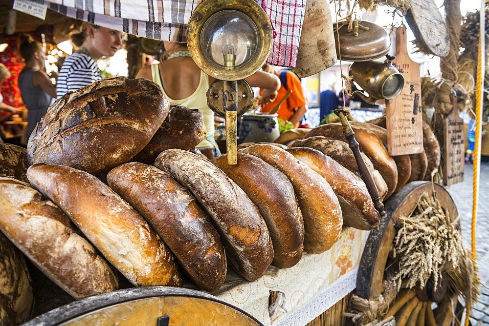 Fresh bread for sale, Gdansk. Poland