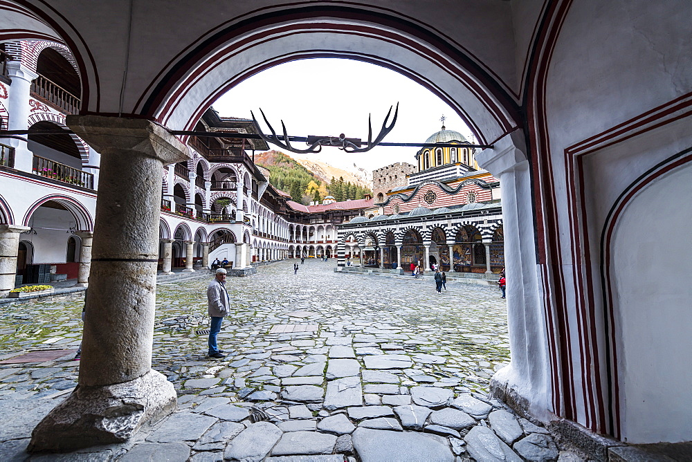 Rila Monastery, UNESCO World Heritage Site, Rila mountains, Bulgaria, Europe