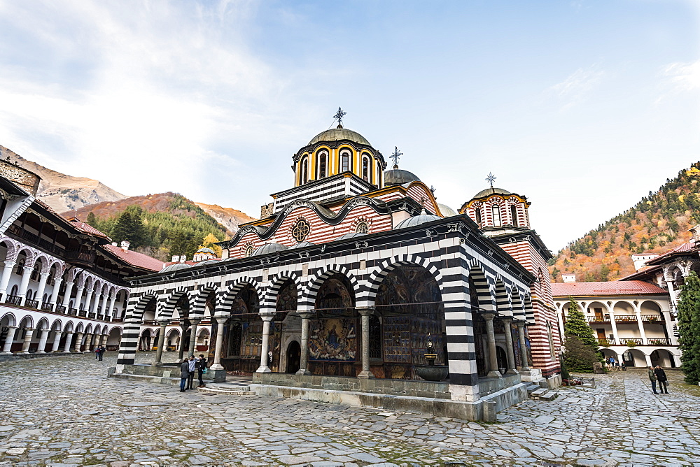 Church of the Nativity of the Virgin Mother, UNESCO World Heritage Site, Rila Monastery, Rila mountains, Bulgaria, Europe