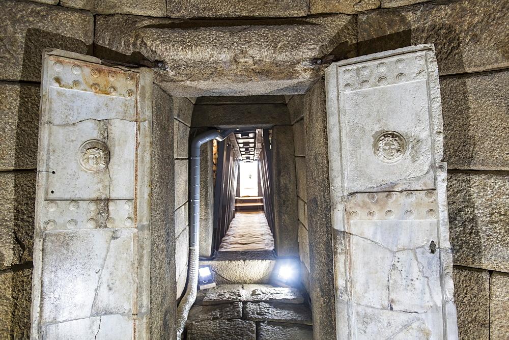 Thracian tomb in the Valley of the Thracian Rulers, Kazanak valley, Kazanlak, Bulgaria, Europe