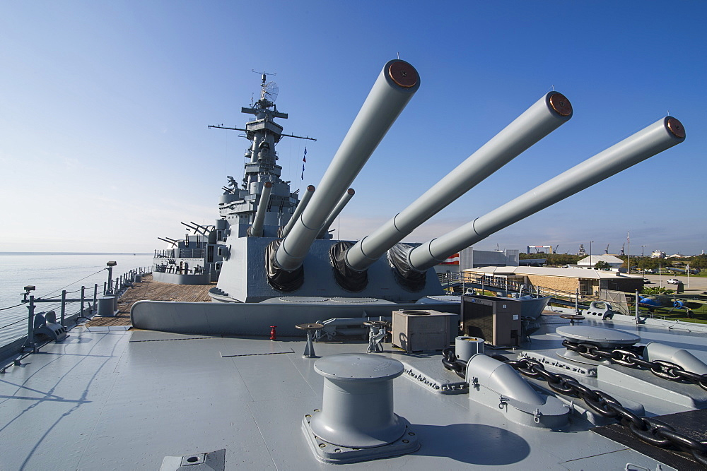 Warship USS Alabama, in the USS Alabama Battleship Memorial Park, Mobile, Alabama, United States of America, North America