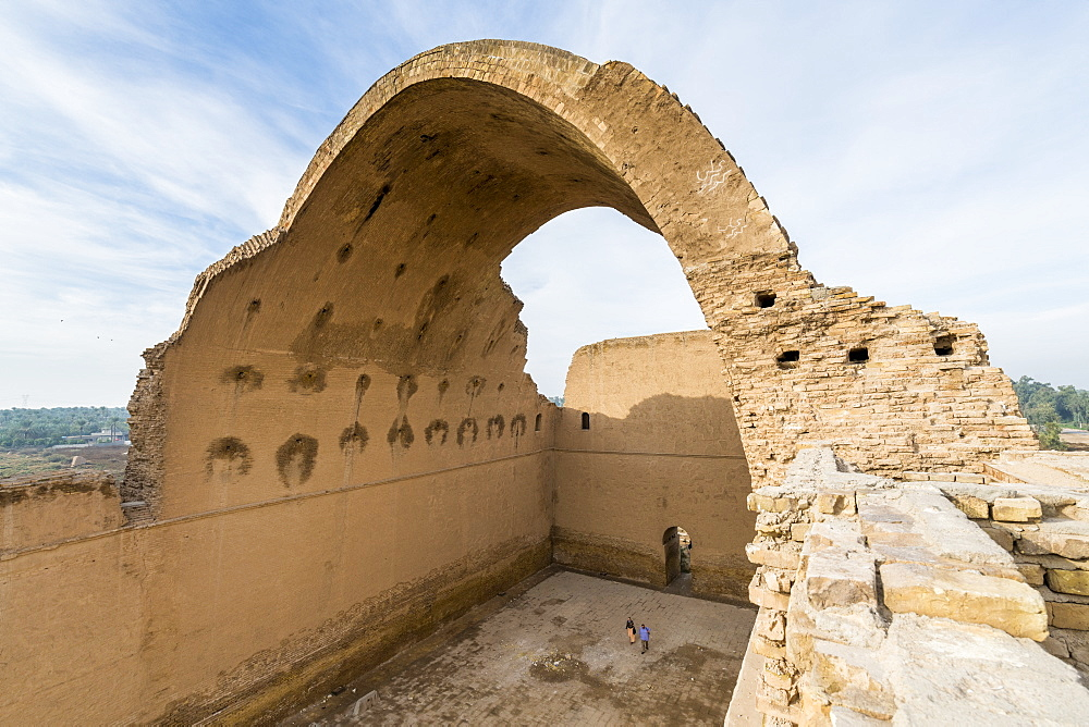 The ancient city of Ctesiphon with largest brick arch in the world, Iraq - 1184-2986
