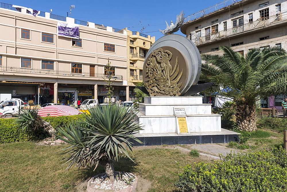 Monument in Al Rasheed Street, Baghdad, Iraq, Middle East