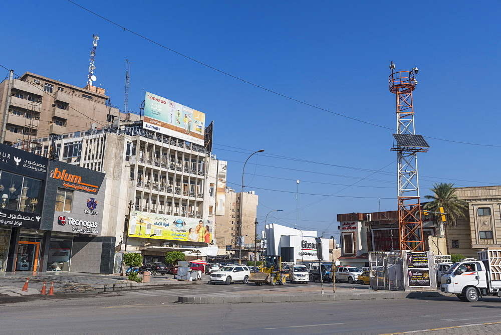 Business district, Baghdad, Iraq, Middle East