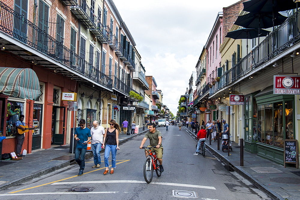 French colonial houses, French Quarter, New Orleans, Louisiana, United States of America, North America
