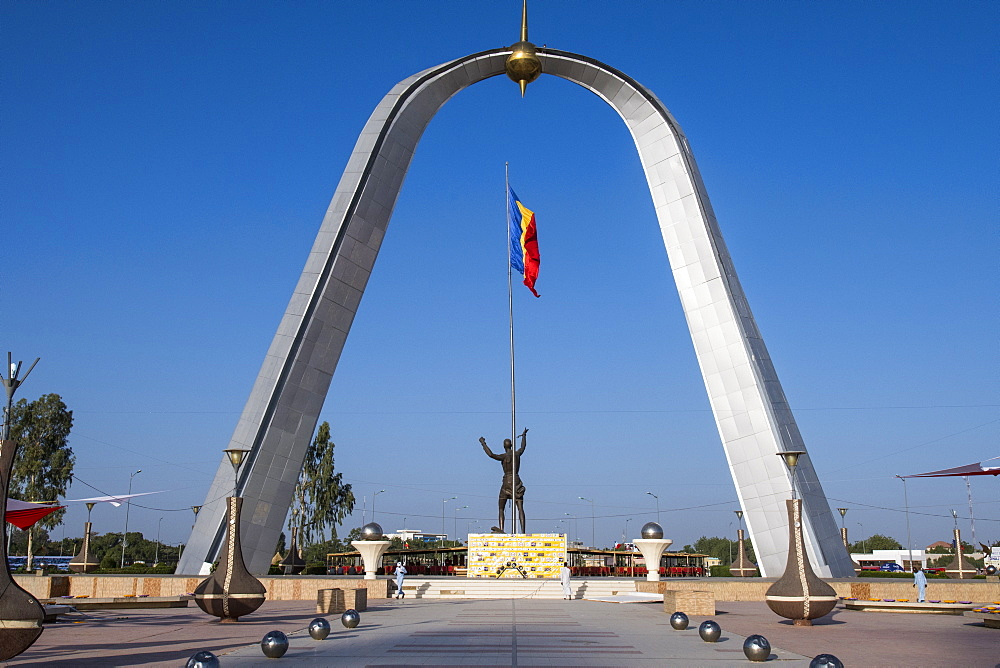 Monument of Independence, Place de la Nation, N´Djamena, Chad, Africa - 1184-3058