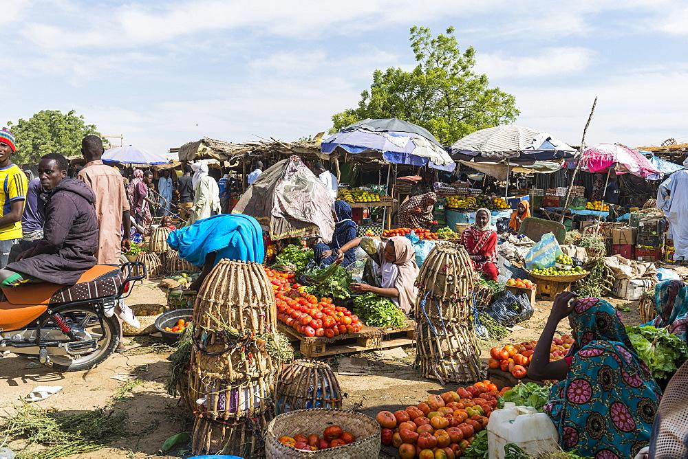 Market scene, Abeche, Chad, Africa