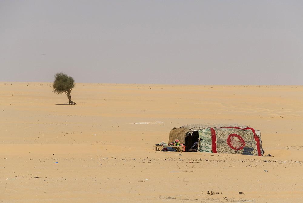 Beduin tent in the desert between Faya-Largeaux and N´Djamena, Chad, Africa - 1184-3084