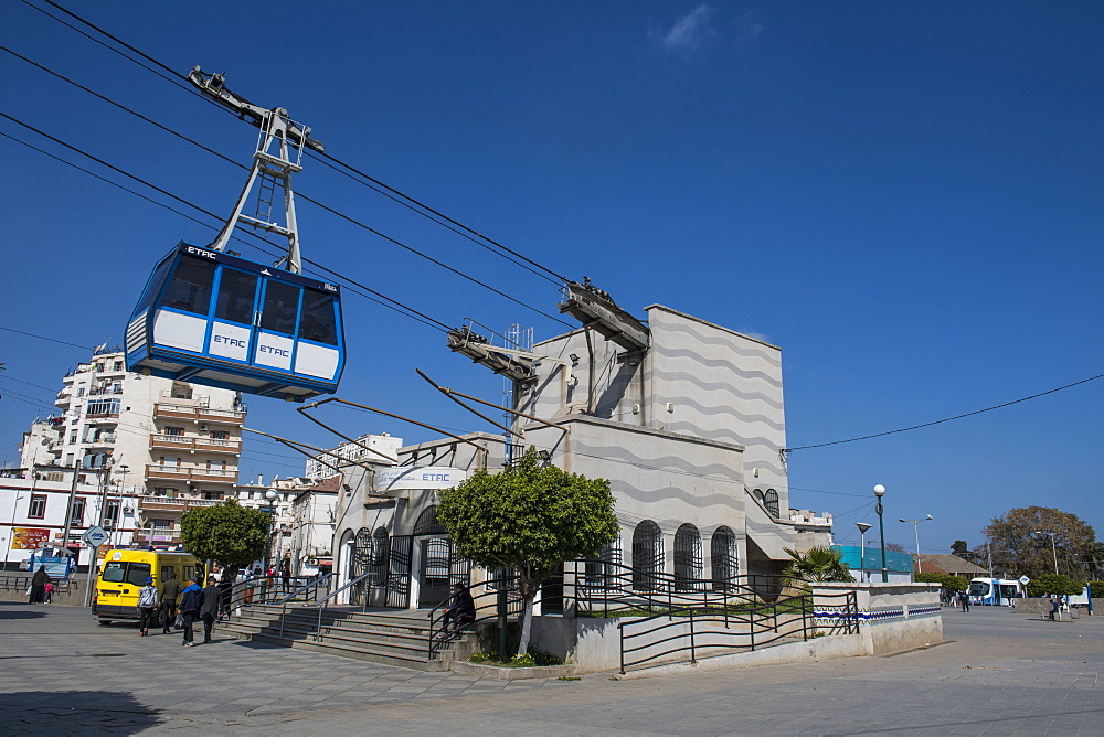 Belouizdad cable car station in Algiers, Algeria, North Africa, Africa