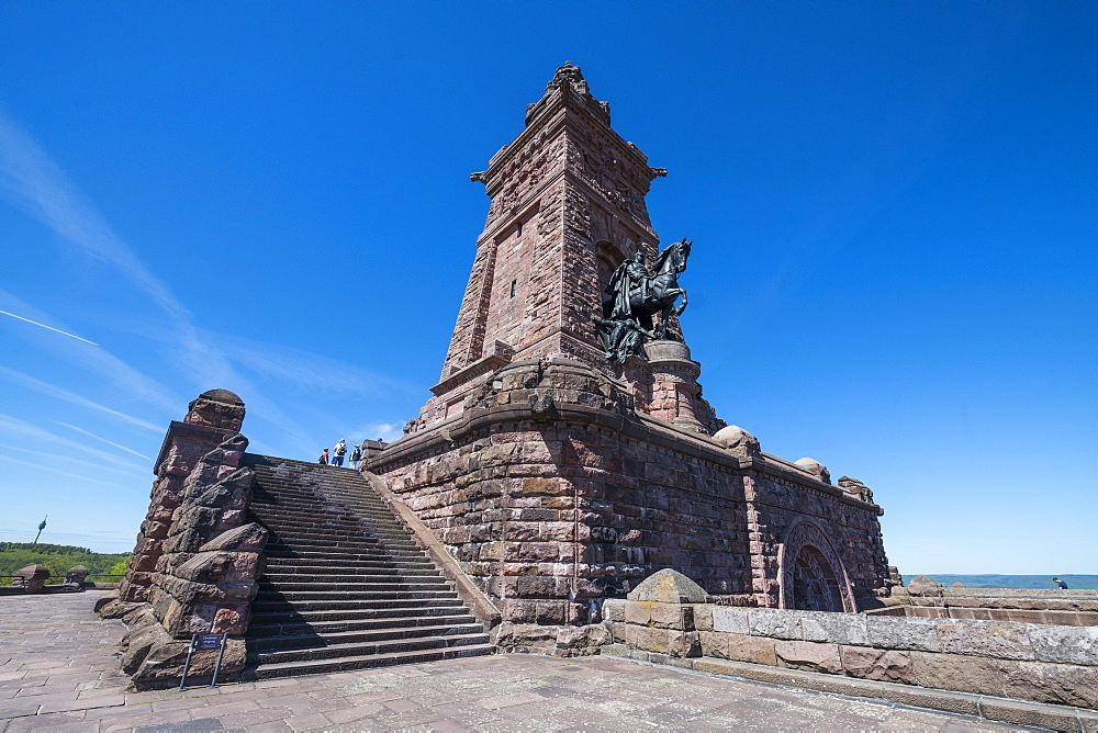 Kyffhaeuser Monument, Barbarossa monument, Thuringia, Germany