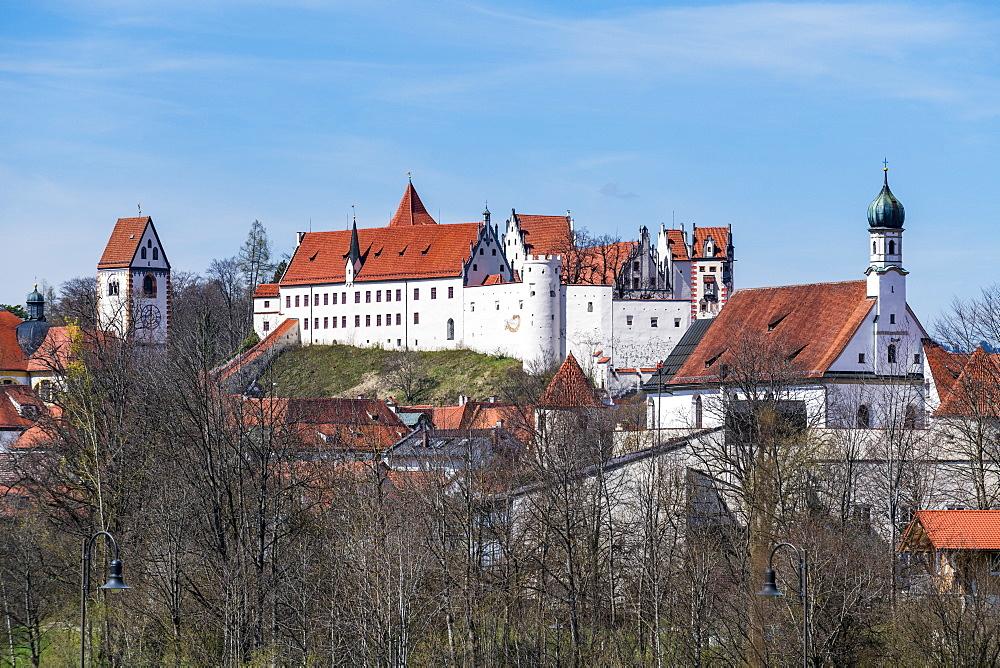 St. Mang monastery, Füssen, Fuessen, Bavaria, Germany