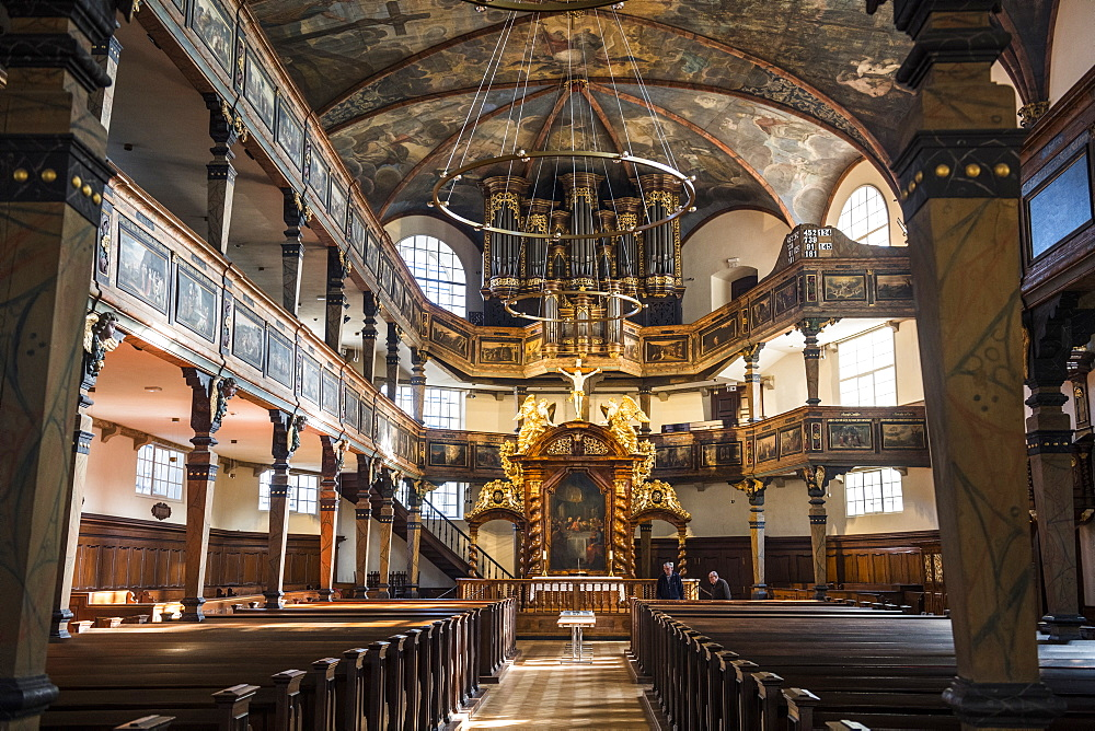 Interior of the Dreifaltigkeitskirche next to the Unesco world heritage sight Speyer Cathedral, Speyer, Germany