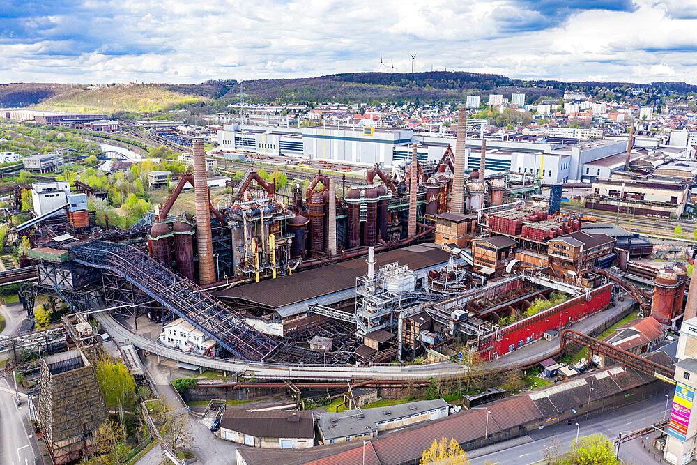 Overlook over the Unesco world heritage sight Voelklingen Ironworks, Saarland, Germany