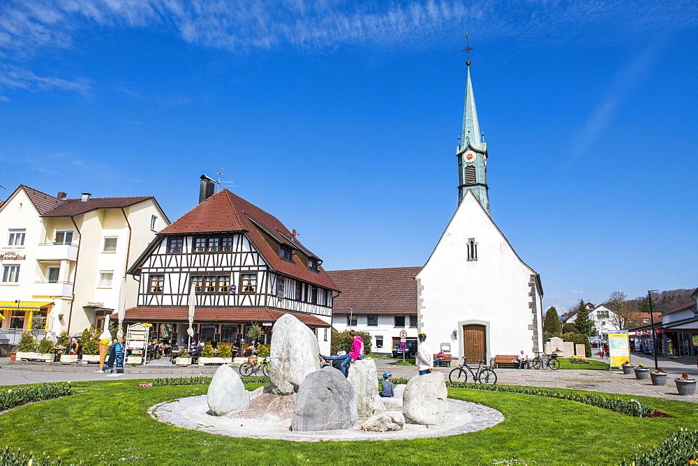Little church in Unteruhldingen on lake Constance, Germany