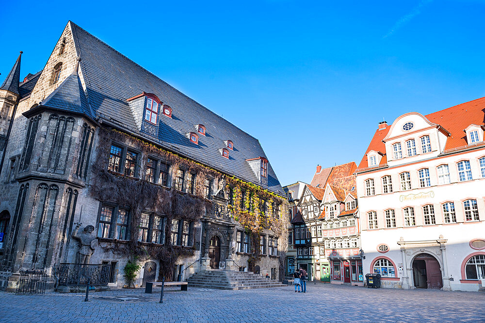 Unesco world heritage sight the town of Quedlinburg, Saxony-Anhalt, Germany