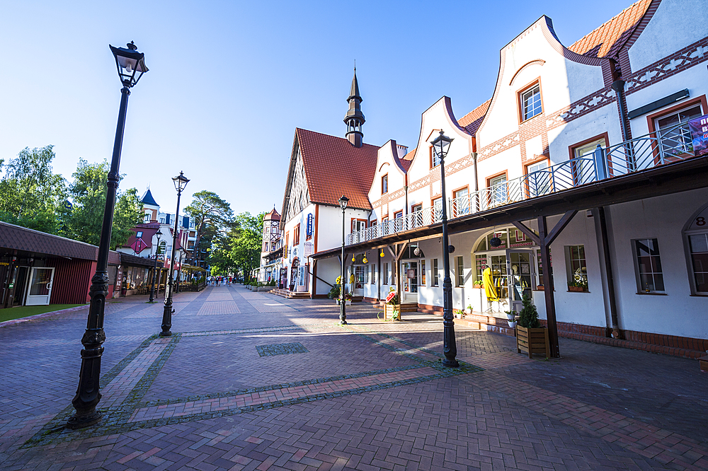 Old German buildings, Kaliningrad, Russia, Europe