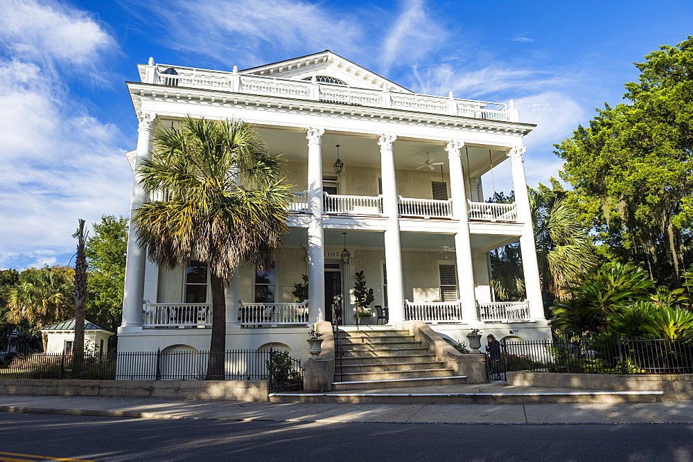 Historical house in Beaufort, South Carolina, United States of America, North America