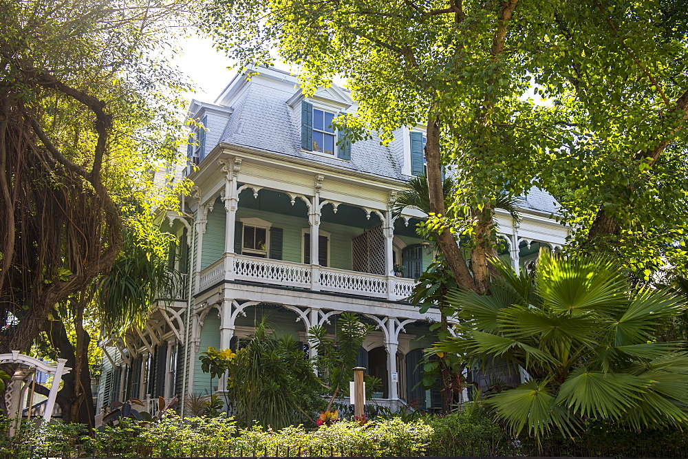 Colonial house in Key West, Florida, United States of America, North America
