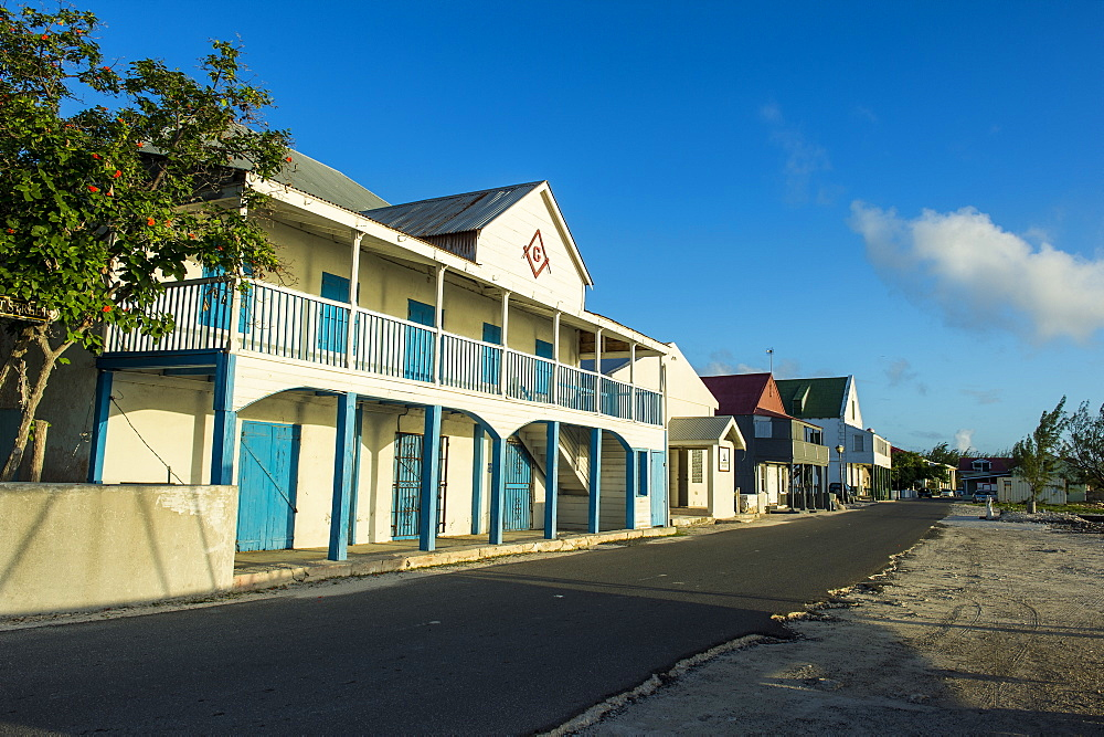 Colonial houses, Cockburn town, Grand Turk, Turks and Caicos