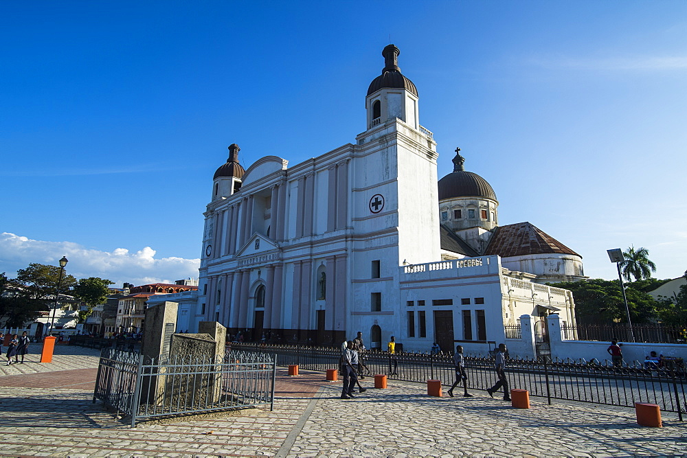 Cathedral Notre Dame on Place d'Armes, Cap Haitien, Haiti, Caribbean, Central America