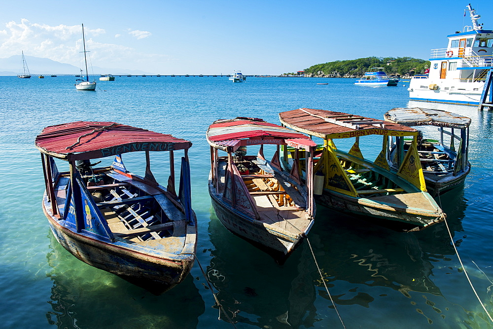 Local tourist boats Labadie, Haiti, Caribbean, Central America