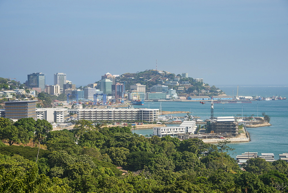 View over Port Moresby, Papua New Guinea, Pacific