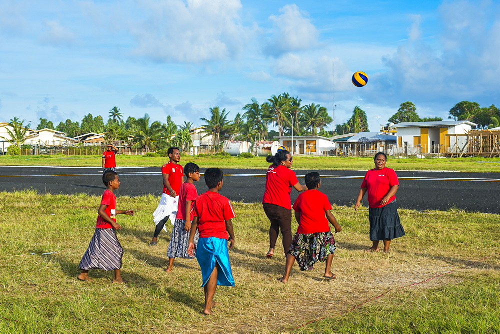 Ano, a traditional localised form of volleyball, Funafuti, Tuvalu, South Pacific