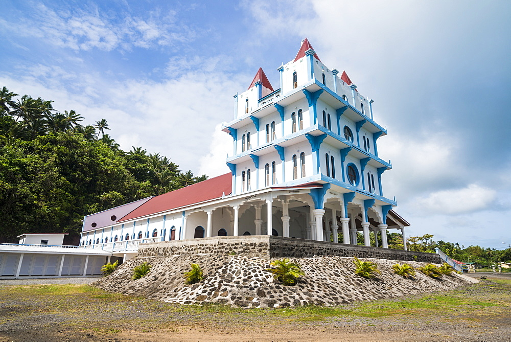 Lausikula church, Wallis, Wallis and Futuna, South Pacific, Pacific