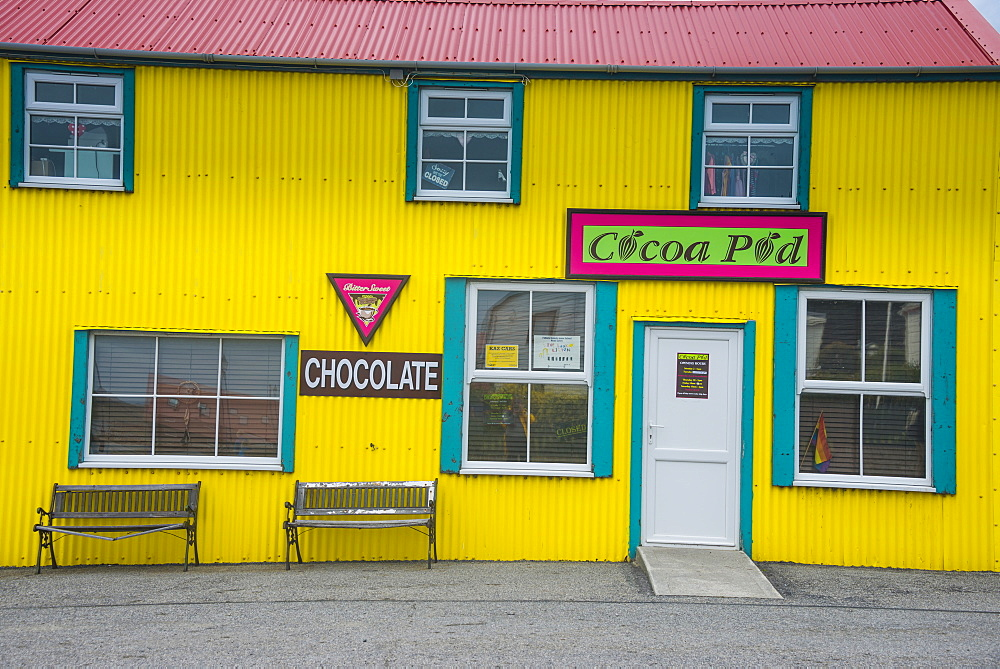 Colourful traditional house, Stanley, capital of the Falkland Islands, South America