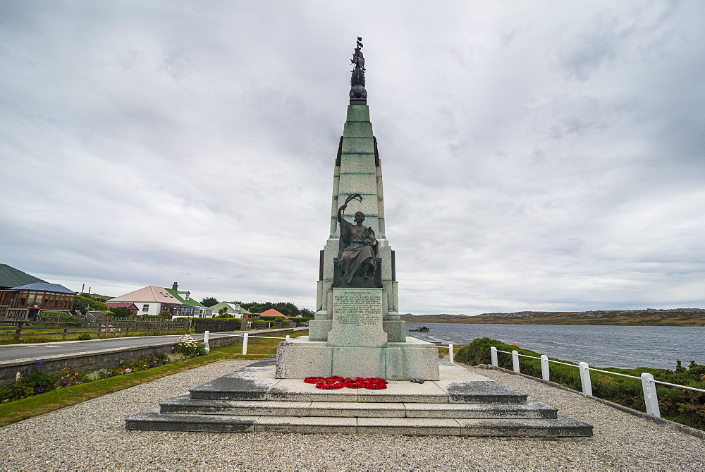Falklands War Memorial, Stanley, capital of the Falkland Islands, South America