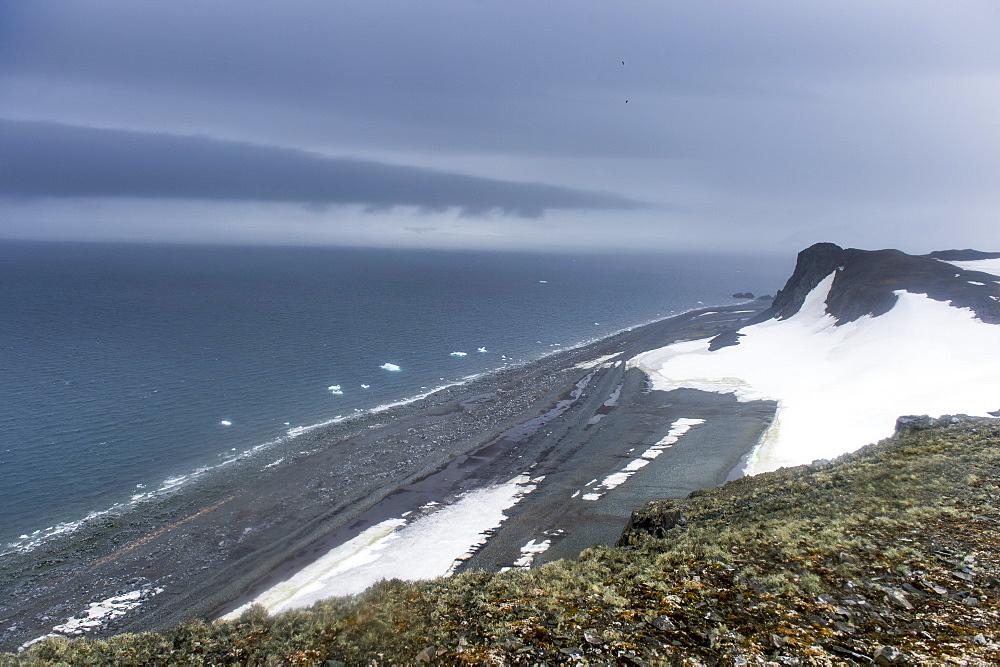 View over Half Moon Island, South Shetland Islands, Antarctica, Polar Regions